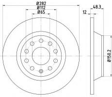 Комплект тормозных дисков TEXTAR 92140803 (2 шт.)