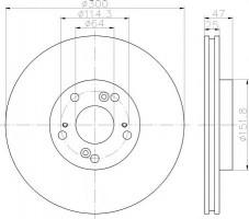 Комплект тормозных дисков TEXTAR 92140900 (2 шт.)