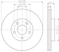 Комплект тормозных дисков TEXTAR 92141203 (2 шт.)
