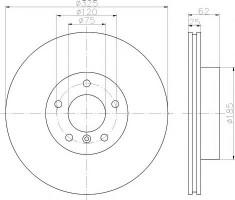 Комплект тормозных дисков TEXTAR 92141503 (2 шт.)
