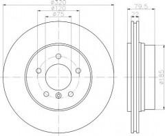 Комплект тормозных дисков TEXTAR 92141603 (2 шт.)