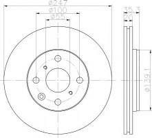 Комплект тормозных дисков TEXTAR 92141903 (2 шт.)