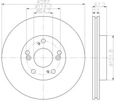 Комплект тормозных дисков TEXTAR 92144403 (2 шт.)