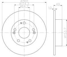 Комплект тормозных дисков TEXTAR 92144603 (2 шт.)