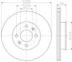 Комплект тормозных дисков TEXTAR 92144700 (2 шт.)