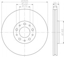 Комплект тормозных дисков TEXTAR 92145003 (2 шт.)