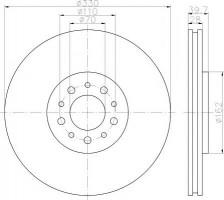 Комплект тормозных дисков TEXTAR 92145103 (2 шт.)