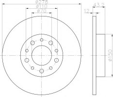 Комплект тормозных дисков TEXTAR 92145203 (2 шт.)