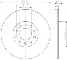 Комплект тормозных дисков TEXTAR 92145303 (2 шт.)