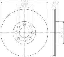 Комплект тормозных дисков TEXTAR 92145803 (2 шт.)