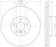 Комплект тормозных дисков TEXTAR 92146203 (2 шт.)