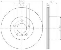 Комплект тормозных дисков TEXTAR 92146303 (2 шт.)