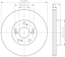Комплект тормозных дисков TEXTAR 92146603 (2 шт.)