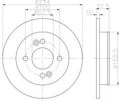 Комплект тормозных дисков TEXTAR 92147200 (2 шт.)