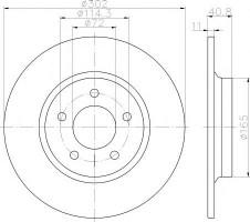 Комплект тормозных дисков TEXTAR 92148200 (2 шт.)