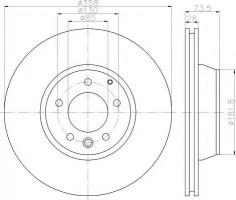Комплект тормозных дисков TEXTAR 92151403 (2 шт.)