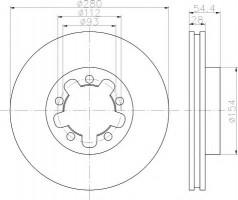 Комплект тормозных дисков TEXTAR 92151803 (2 шт.)