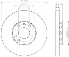 Комплект тормозных дисков TEXTAR 92152200 (2 шт.)