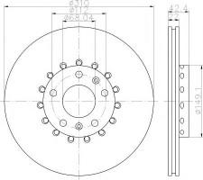 Комплект тормозных дисков TEXTAR 92152303 (2 шт.)