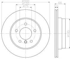 Комплект тормозных дисков TEXTAR 92154903 (2 шт.)
