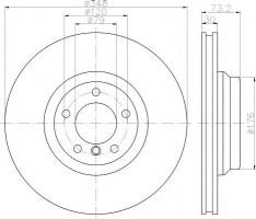 Комплект тормозных дисков TEXTAR 92155303 (2 шт.)