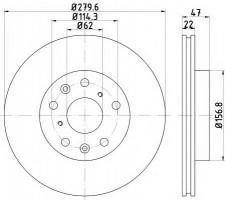 Комплект тормозных дисков TEXTAR 92156600 (2 шт.)