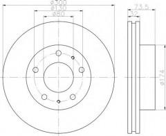 Комплект тормозных дисков TEXTAR 92157300 (2 шт.)