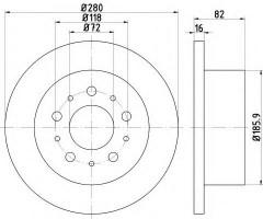 Комплект тормозных дисков TEXTAR 92157400 (2 шт.)