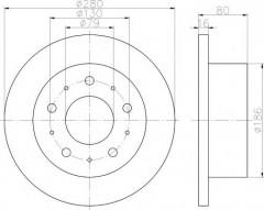 Комплект тормозных дисков TEXTAR 92157500 (2 шт.)