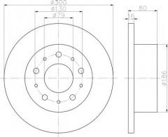 Комплект тормозных дисков TEXTAR 92157600 (2 шт.)