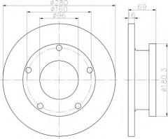 Комплект тормозных дисков TEXTAR 92159100 (2 шт.)