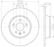 Комплект тормозных дисков TEXTAR 92159300 (2 шт.)