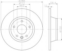 Комплект тормозных дисков TEXTAR 92159403 (2 шт.)