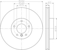 Комплект тормозных дисков TEXTAR 92160803 (2 шт.)