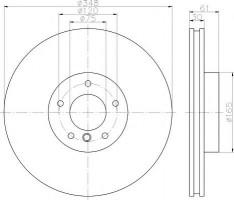 Комплект тормозных дисков TEXTAR 92160903 (2 шт.)