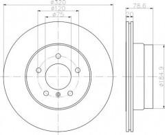Комплект тормозных дисков TEXTAR 92161103 (2 шт.)