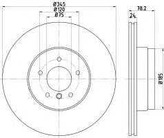 Комплект тормозных дисков TEXTAR 92161203 (2 шт.)