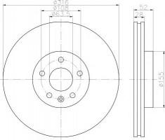 Комплект тормозных дисков TEXTAR 92162300 (2 шт.)