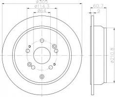 Комплект тормозных дисков TEXTAR 92162500 (2 шт.)