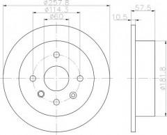 Комплект тормозных дисков TEXTAR 92163000 (2 шт.)