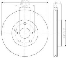 Комплект тормозных дисков TEXTAR 92163803 (2 шт.)