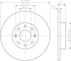 Комплект тормозных дисков TEXTAR 92164603 (2 шт.)