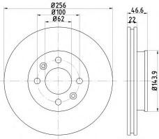 Комплект тормозных дисков TEXTAR 92164703 (2 шт.)
