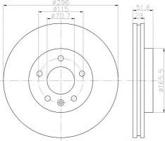 Комплект тормозных дисков TEXTAR 92165400 (2 шт.)