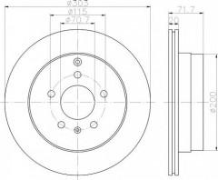 Комплект тормозных дисков TEXTAR 92165500 (2 шт.)