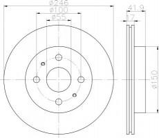 Комплект тормозных дисков TEXTAR 92165600 (2 шт.)