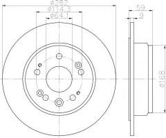 Комплект тормозных дисков TEXTAR 92165703 (2 шт.)