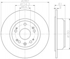 Комплект тормозных дисков TEXTAR 92165803 (2 шт.)