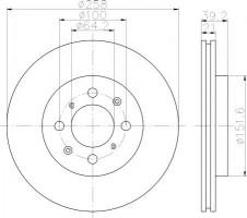 Комплект тормозных дисков TEXTAR 92165900 (2 шт.)