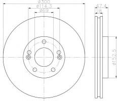 Комплект тормозных дисков TEXTAR 92166200 (2 шт.)